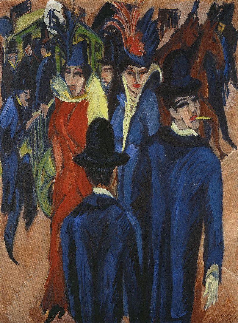 Ernst Kirchner_Berlin_Street_Scene_1913.