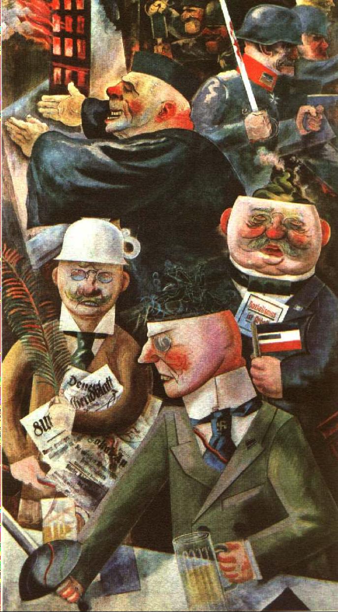 Georg Gross '' οι στυλοβάτες της κοινωνίας'' 1926