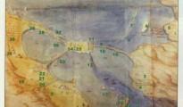 Σχέδιο του πορθμού της Λευκάδας-Ιστορική απεικόνηση πολεμικού περιστατικού