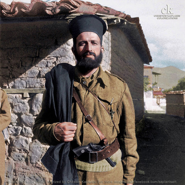 Dmitri Kessel, 29 Οκτωβρίου 1944, ο παπα-Κουμπούρας στη Λαμία.