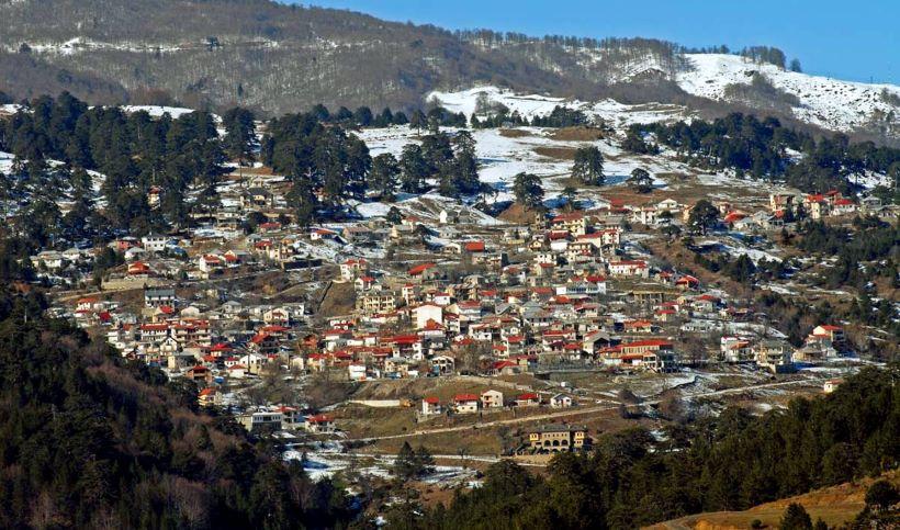 grevena with snow