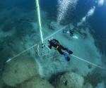 Γενική άποψη του ναυαγίου και του χώρου της ανασκαφής