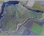 Αεροφωτογραφία της μυκηναϊκής ακρόπολης του Γλα Βοιωτίας