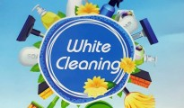 white cleaning