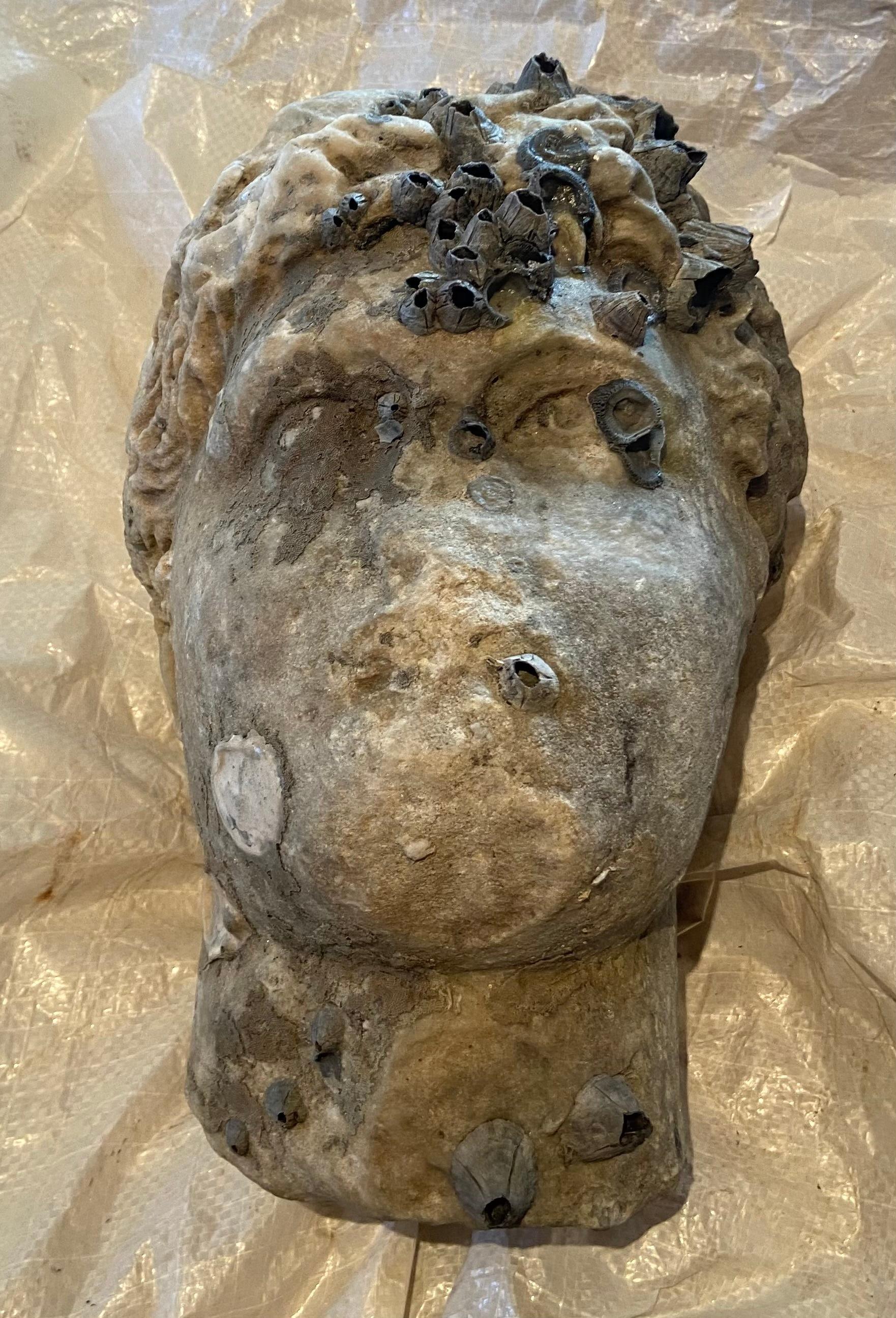Παράδοση κεφαλής ρωμαϊκής περιόδου που ανασύρθηκε από τη θαλάσσια περιοχή της Πρέβεζας