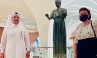 Ahmad Al-Namla, Λίνα Μενδώνη στην τελετή εγκαινίων